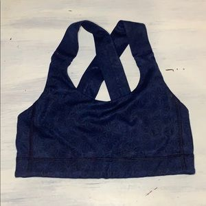 navy blue lulu sports bra